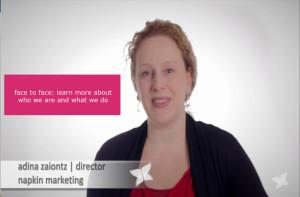 napkin marketing video clip with Adina