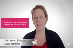 napkin marketing video clip with Adina