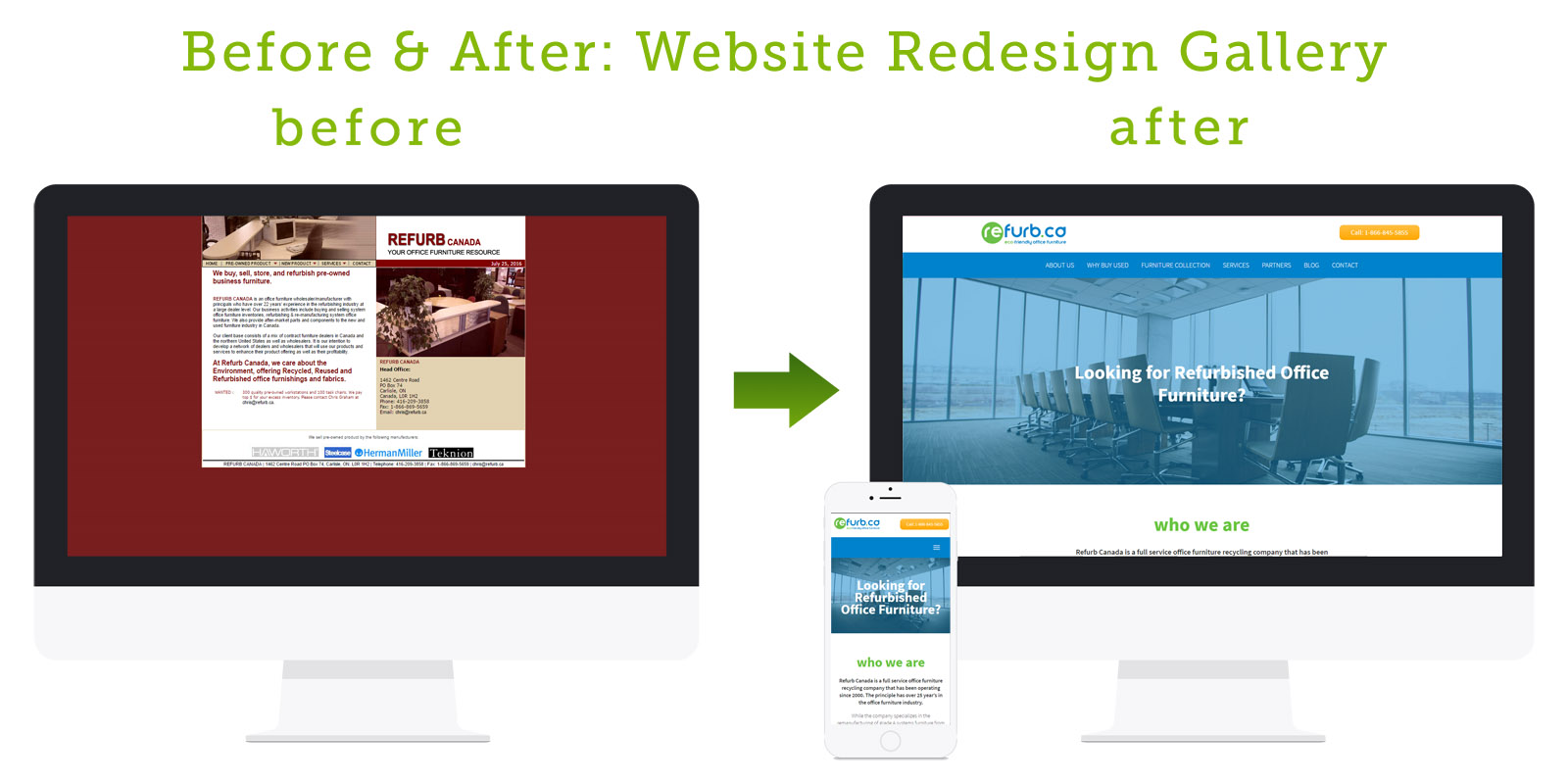 Before and After Website Redesign