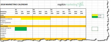 marketing calender template