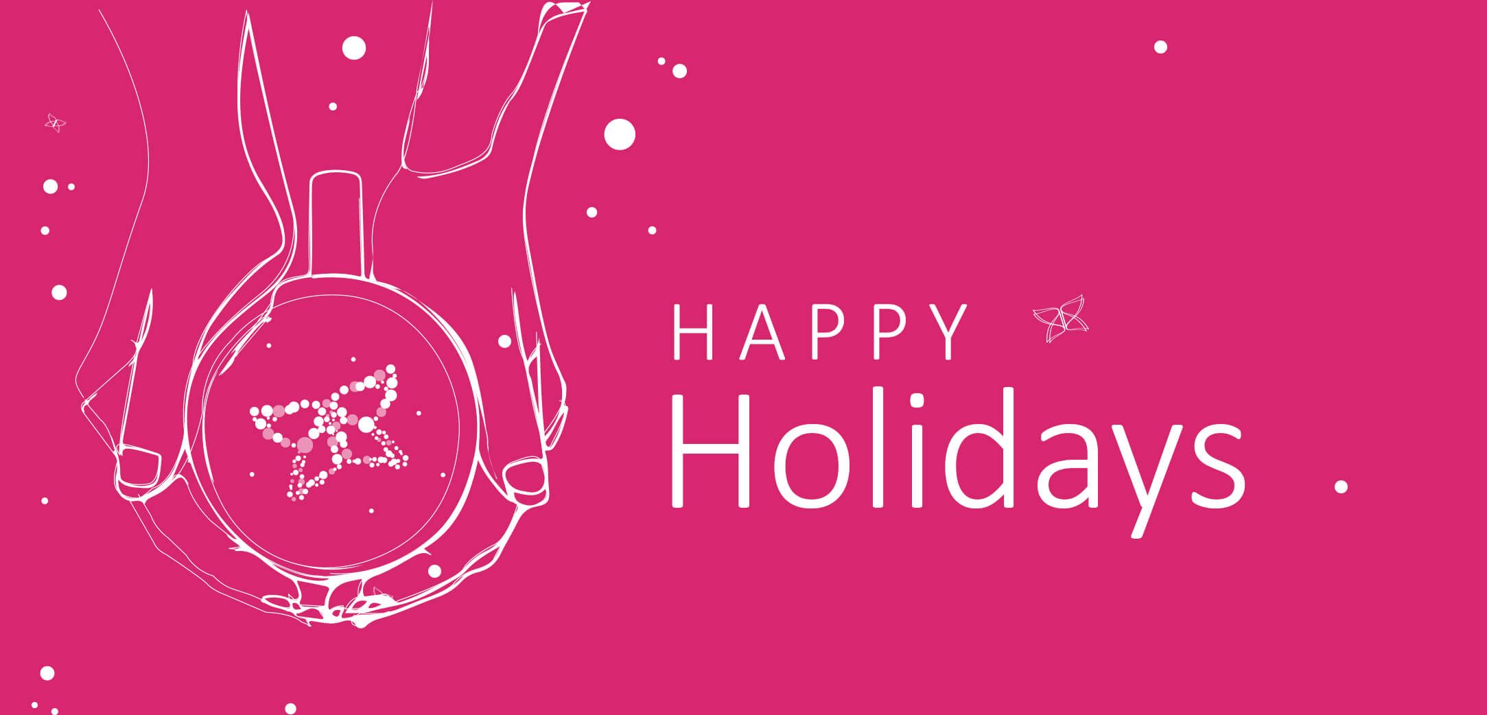 Wishing you a happy holiday season and a  joyous new year!