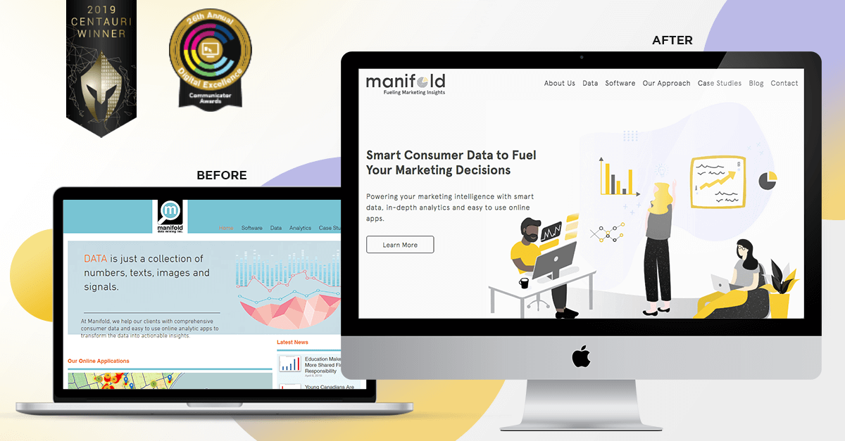 Manifold Data Mining: SaaS Website Design and Brand Makeover